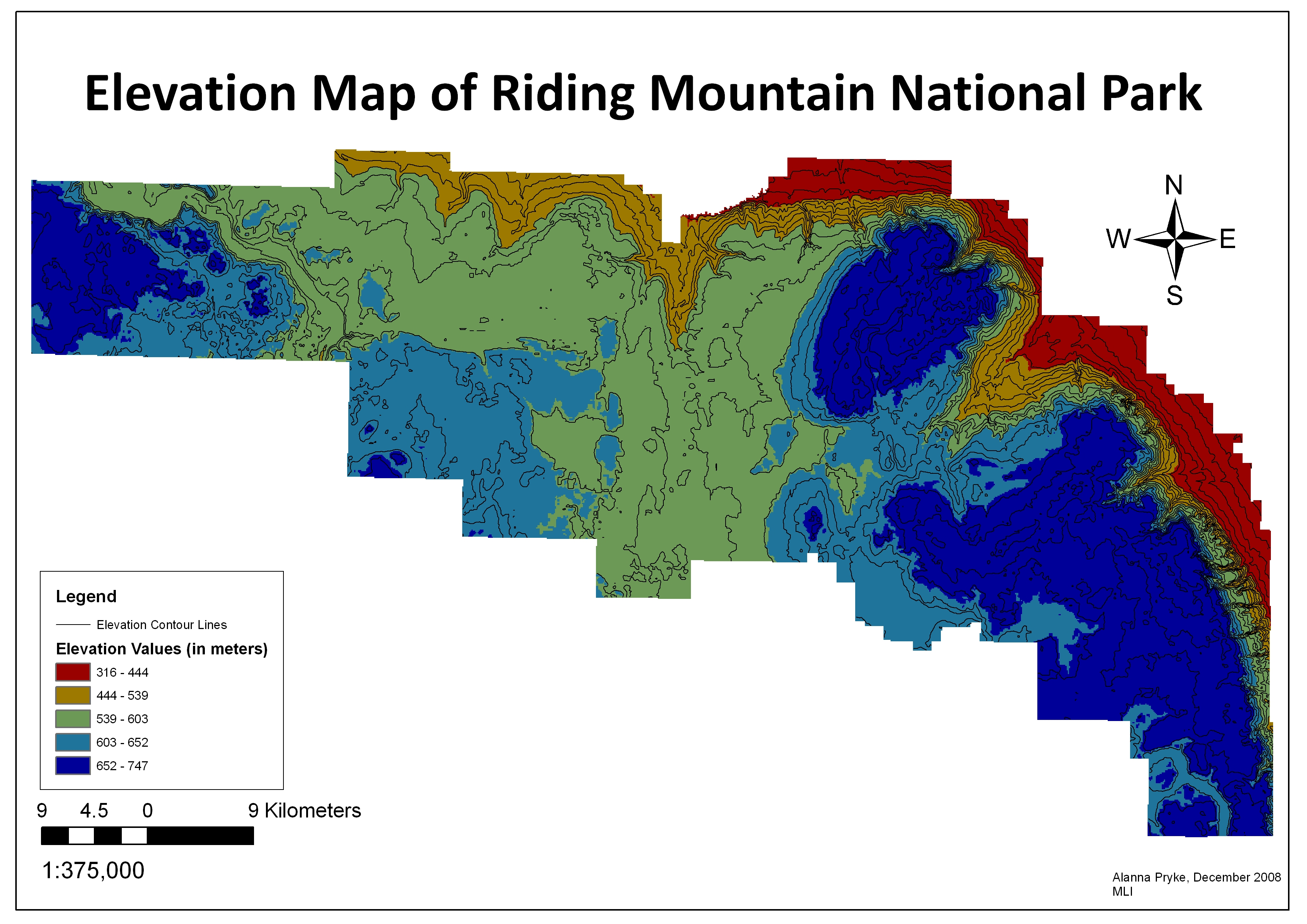 A digital elevation model of riding mountain national park rmnpdem gumiabroncs Gallery