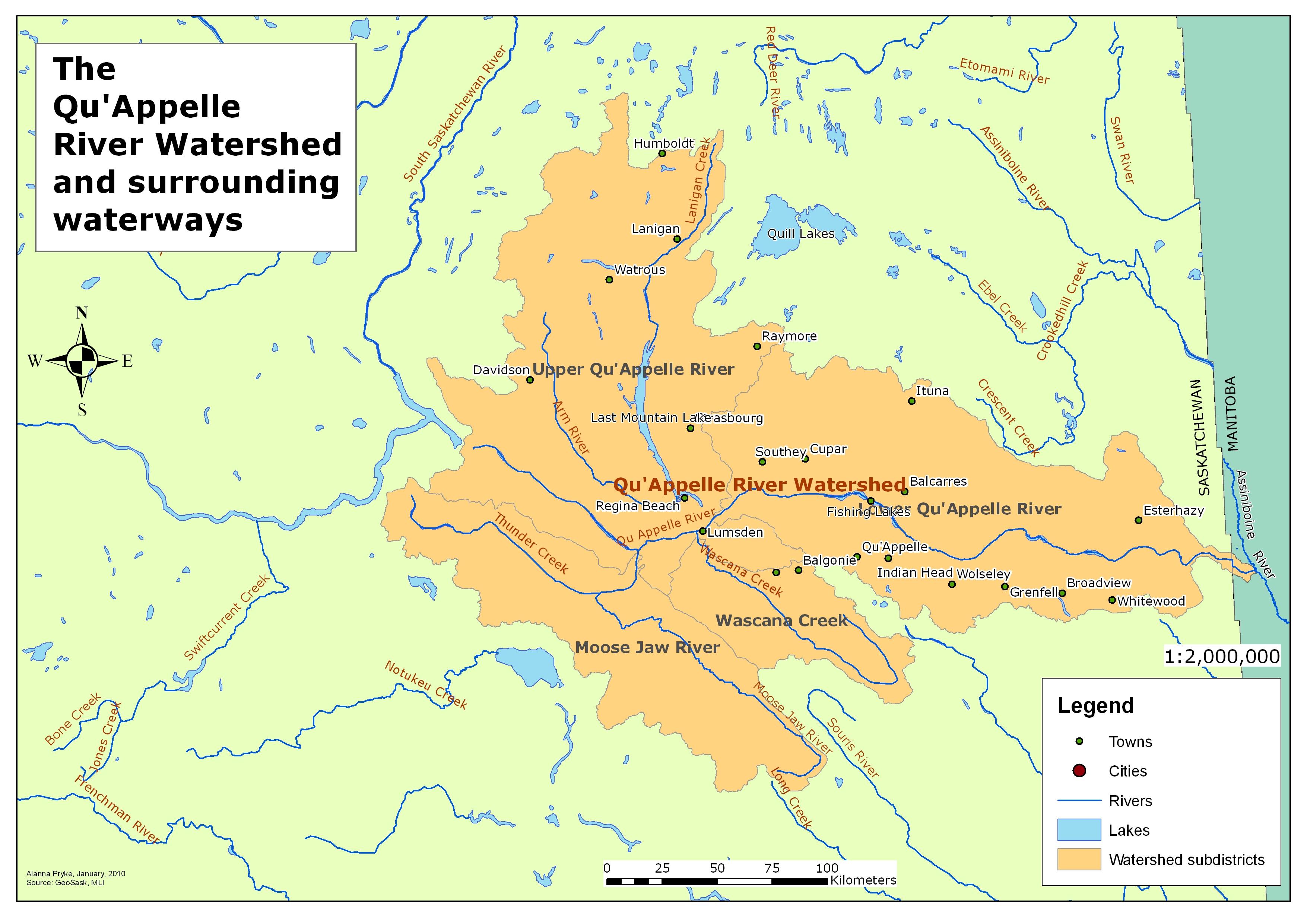 assiniboine river map
